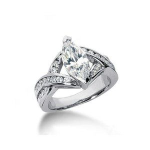 Jewelry - 2.61 carat diamonds marquise cut engagement ring